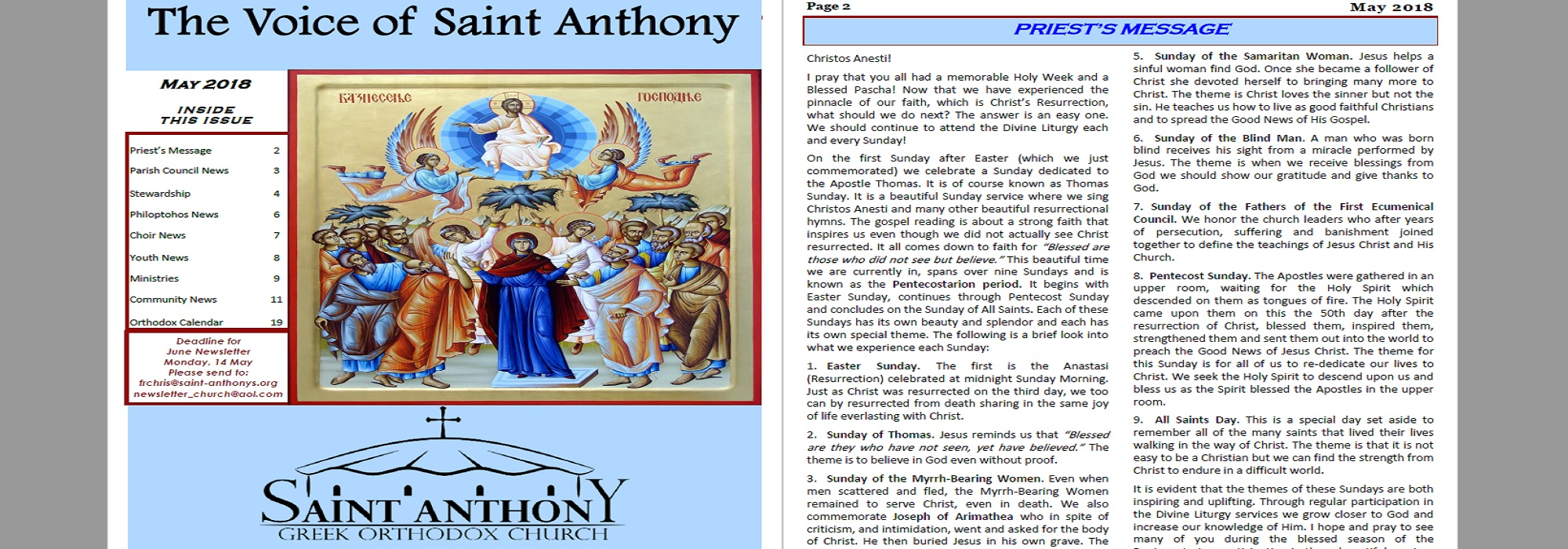 The Voice of St. Anthony
