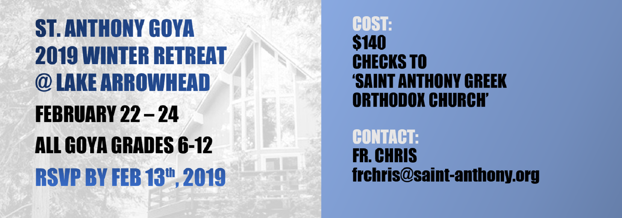 St. Anthony GOYA Winter Retreat