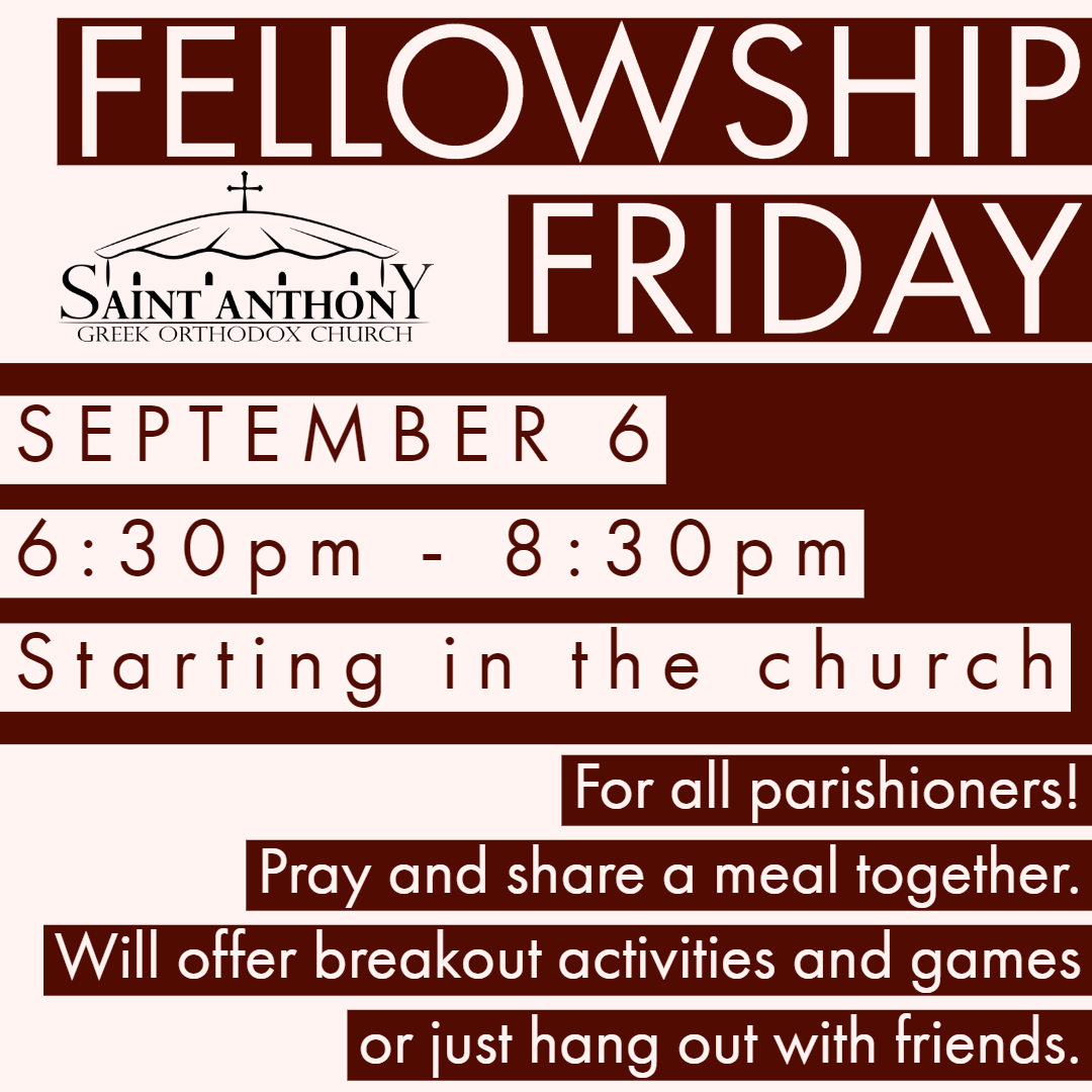 fellowship friday sept 6 1
